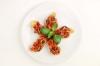 Bruschete cu rosii, ciuperci si mozarella